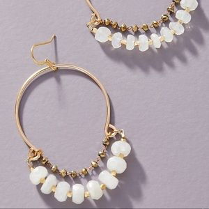 Anthropologie Love Draped Hoop Earrings